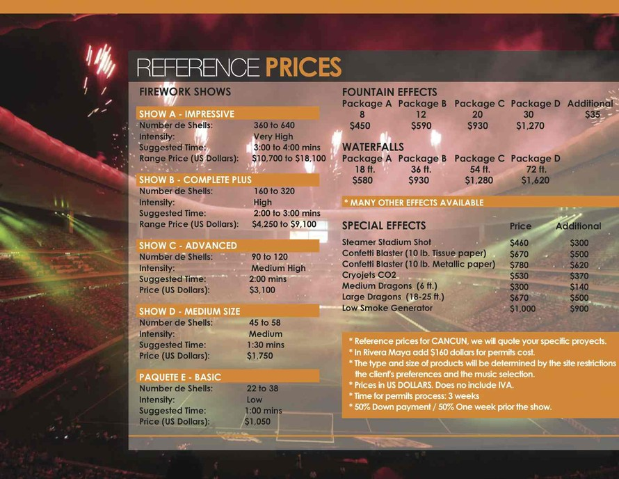 fireworks prices mexico